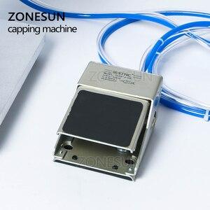 Image 4 - ZONESUN pneumatyczne doustne płynne rozwiązanie penicylina butelka Capper aluminium metalowe plastikowe fiolki Crimper maszyny zamykające
