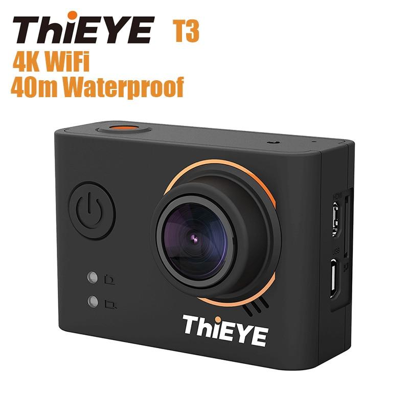 ThiEYE T3 Novatek 96660 Action Camera WiFi HD 4K 24fps 12MP Sports Camera 2'' TFT LCD Screen 40m Waterproof 1080P Sport Camera