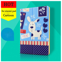 Tablet Case for xiaomi Mipad 1 Mipad 2 3 Smart PU Leather Sleeve for Mi pad 3 Cute Cartoon Folio Stand Protective Cover Case