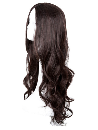 Длинные вьющиеся парик фей-Show синтетические термостойкие средней части линии карнавал волос костюм COS-Play Halloween Party салон парики