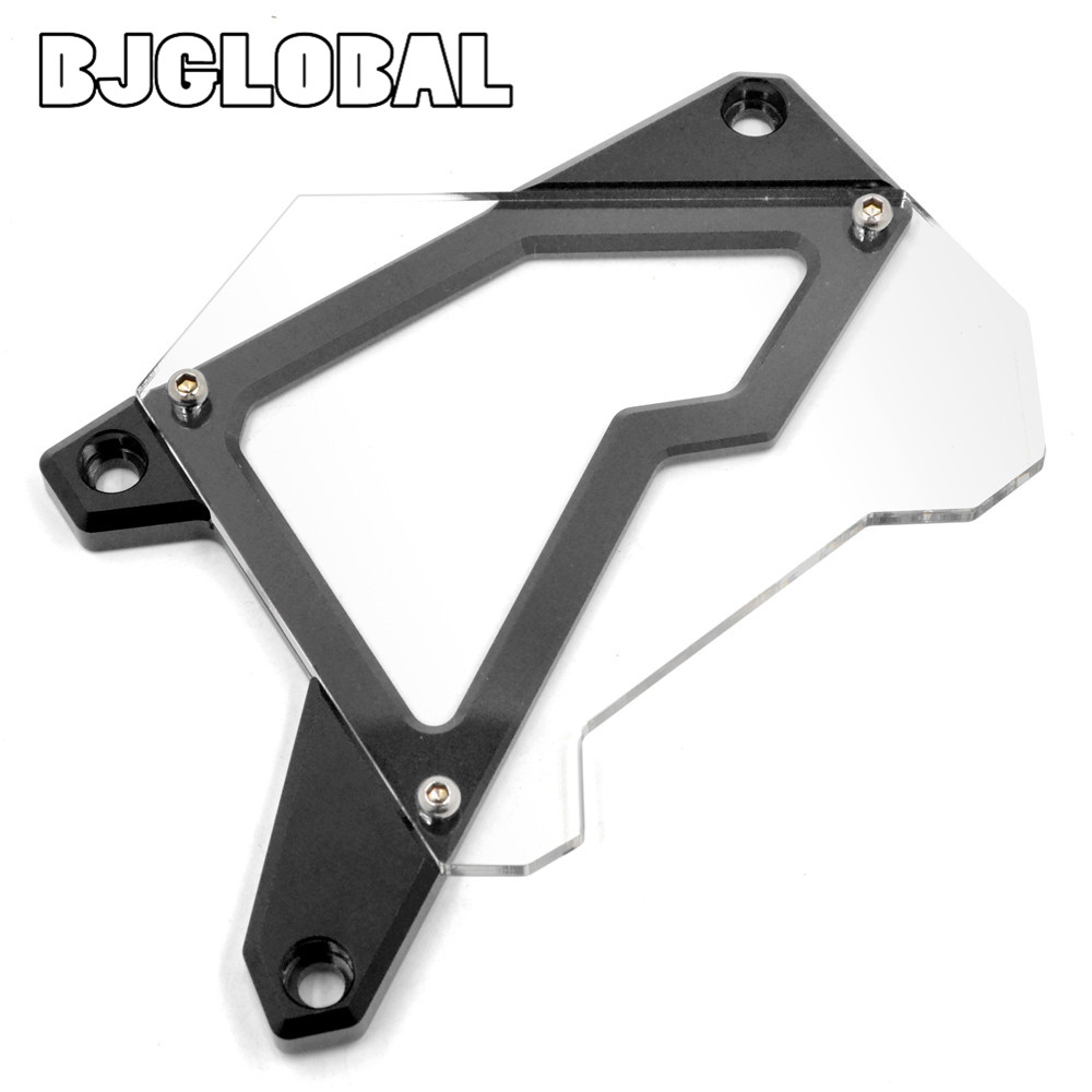 ФОТО Motorcycle Front Sprocket Cover Panel Left Engine Guard Chain Cover Protection For BMW S1000R  2014-2015 S1000RR