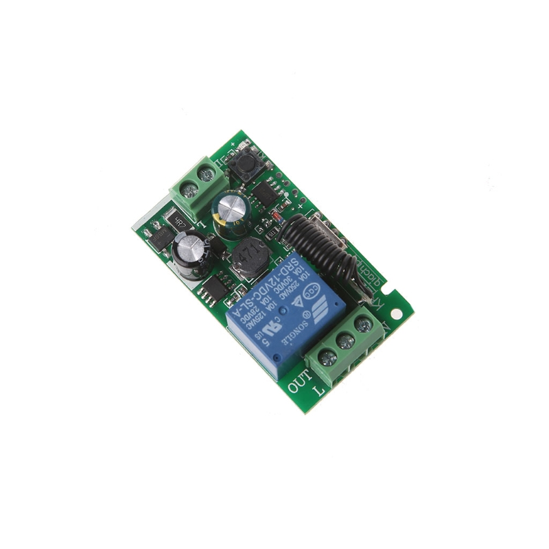 AC 220V 1CH RF 433MHz Wireless Remote Control Switch Module Learning Code Relay #4XFC# Drop shipping dc12v rf wireless switch wireless remote control system1transmitter 6receiver10a 1ch toggle momentary latched learning code