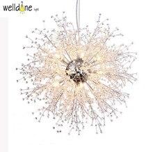 Северный дизайн простой прозрачный K9 кристалл современный креативный одсветодио дный уванчик светодиодный подвесной светильник для столовой мастер комнаты Ресторан гостиная