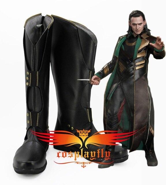 Flim vengadores  infinity War Thor  el mundo oscuro Loki Cosplay Zapatos  Botas adulto dd582909fa31