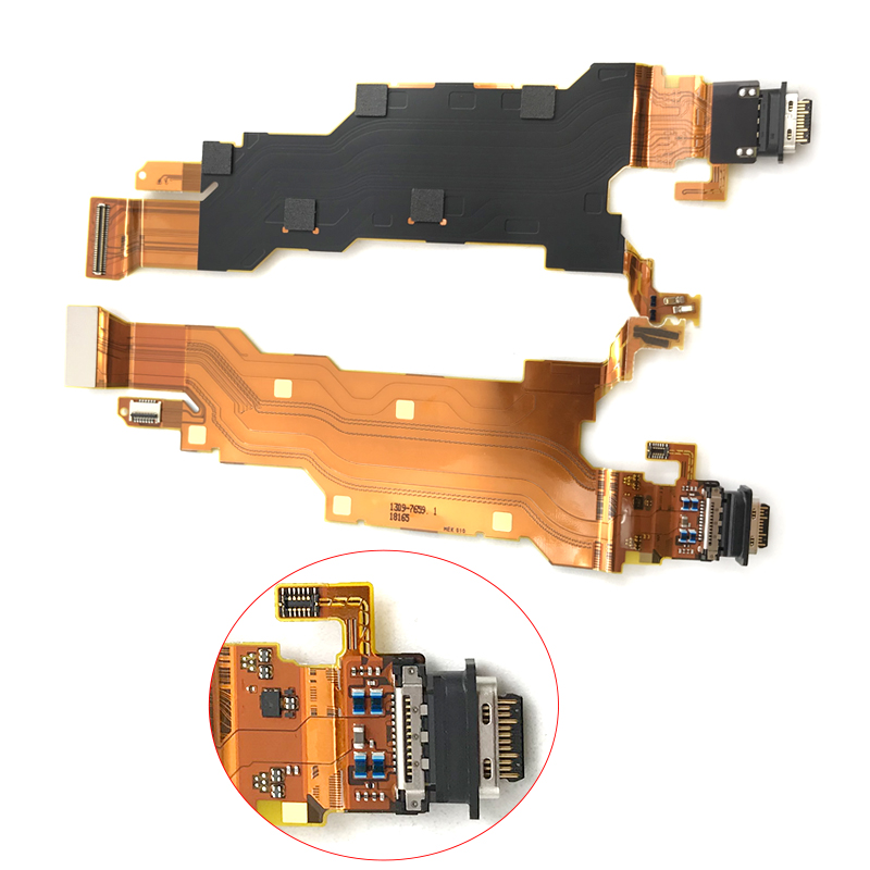 New For Sony Xperia XZ2 Dock Connector Micro USB Charger Charging Port Flex Cable Board With Microphone Replacement Parts