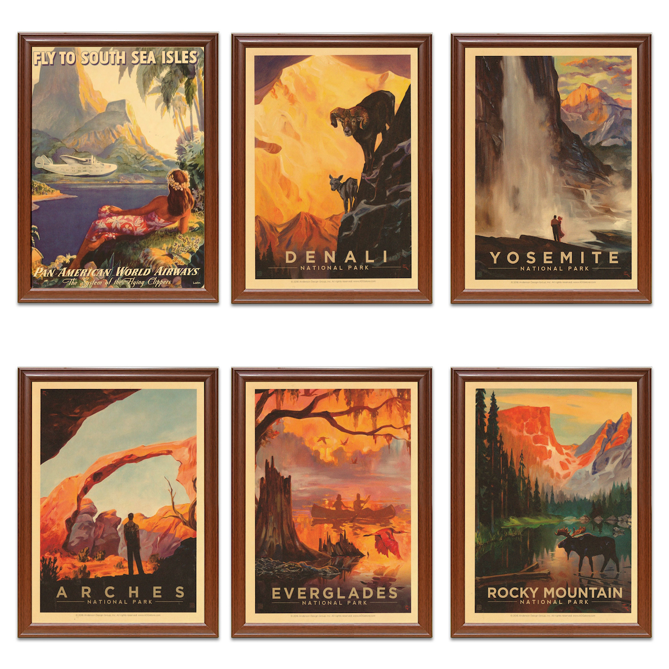Yosemite Canvas Travel Poster
