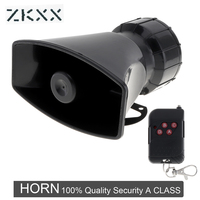 12V 100W 7 Sounds Loud Auto Car Warning Alarm Police Fire Siren Horn Speaker With Black