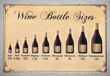 1pc Wine bottle Size White red Drink Bar Shop store Tin Plate Sign wall man cave Decoration Man Art Poster metal vintage