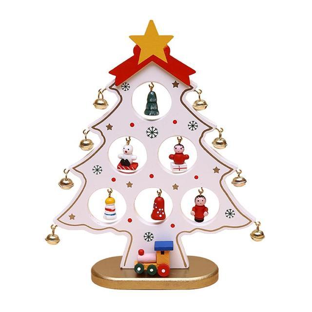Us 1194 37 Offboże Narodzenie Dekoracyjne Drewniane Mini Choinka Ozdoby Na Pulpit Dekoracje Dla Dzieci Prezent Home Party Przedszkole Decor