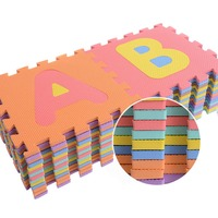 Kid's Multicolored Numbers Puzzle Play Mat EVA Drop proof Moisture proof Bubble Mat @ YJS Dropship