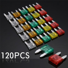 120pcs Car Auto Assorted Mini Standard Blade Fuse Set 5A 10A 15A 20A 25A 30A 120pcs 1 box new mini auto automotive car boat truck blade fuse box assortment 5a 7 5a 10a 15a 20a 25a 30a