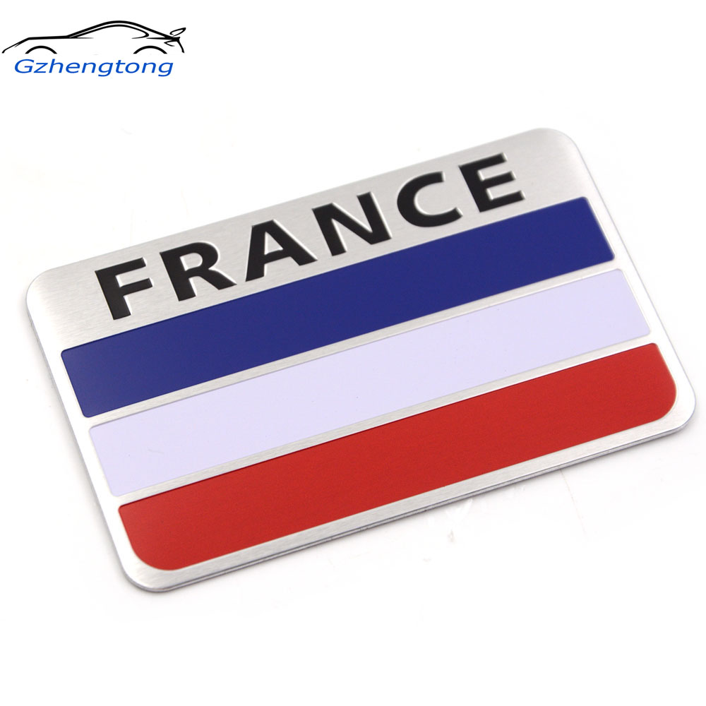 Gzhengtong Car Styling Metal France Flag Sticker Logo Car Auto Sport Badge Chrome Emblem Decals