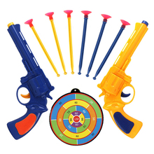 цена на Colored Gun Children's Pistol Soft Bullet Plastics Toy Guns Outdoor Sports Shooting Educational Game Kids Gun Weapon for Boys