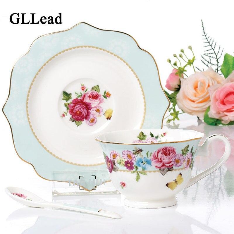 GLLead Fashion Butterfly Cherry Blossoms Keramický šálek kávy a - Kuchyně, jídelna a bar
