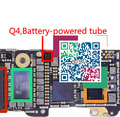 5 pçs/lote q4 ic para iphone 5s ic tubo alimentado por bateria na placa lógica