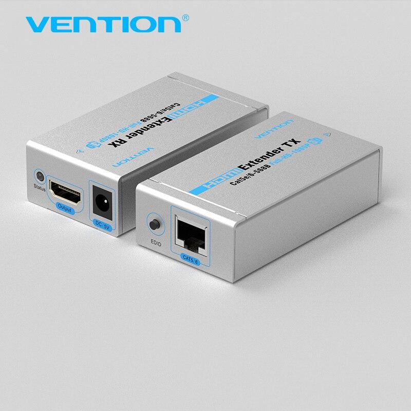Convention 60 M HDMI Extender TX Avec Lanceur Récepteur Cat5/6 RJ45 Ethernet HD 1080 p/1080i/720 p Double Cat5/6 Full HD Support de la 3D