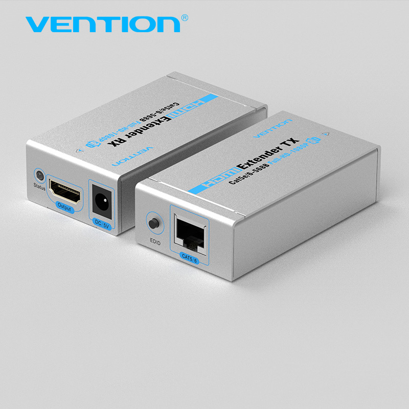 Vention 60 м HDMI Extender TX с запуска приемника Cat5/6 RJ45 Ethernet HD 1080 P/1080i/ 720 P двойной Cat5/6 Full HD Поддержка 3D