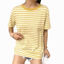 Женские футболки в желто черную полоску 2019 женская футболка