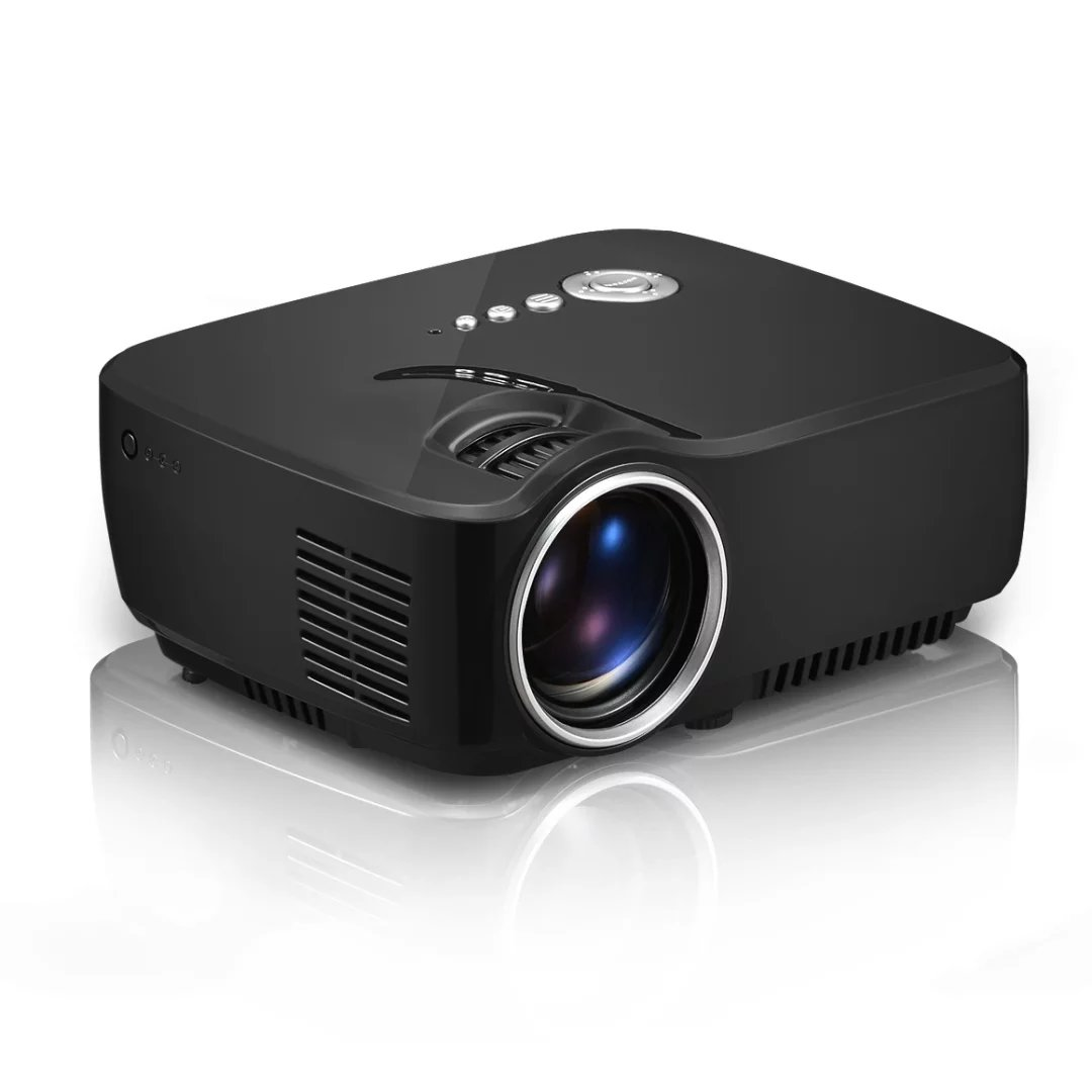 GP70 LCD Projector 1800Lumens Support 1920x1080P Analog TV LED Mini Projector For Home Cinema With Free HDMI Cable