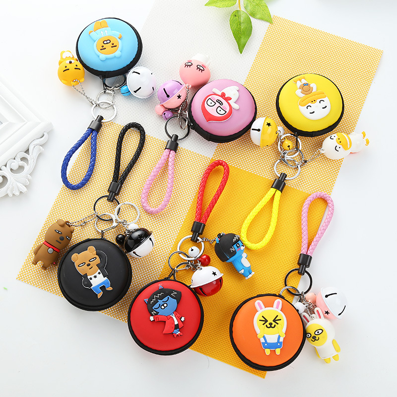 New stereo Korean cartoon cartoon zero wallet with widgets Lovely headphones package To receive the key packet