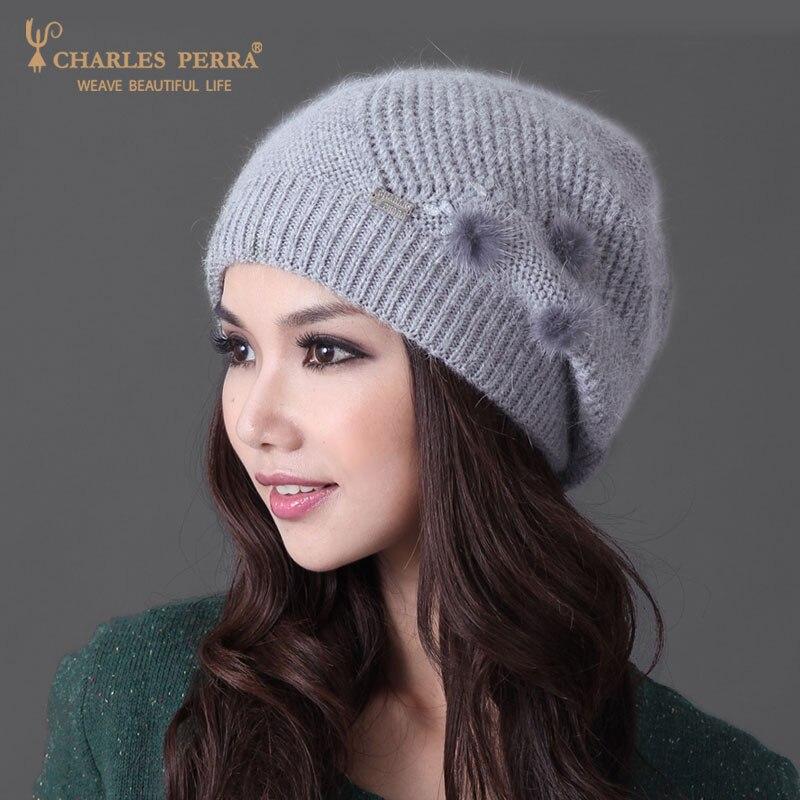 Charles Perra Mujer Sombreros Invierno Espesar Doble capa Sombrero de - Accesorios para la ropa - foto 3