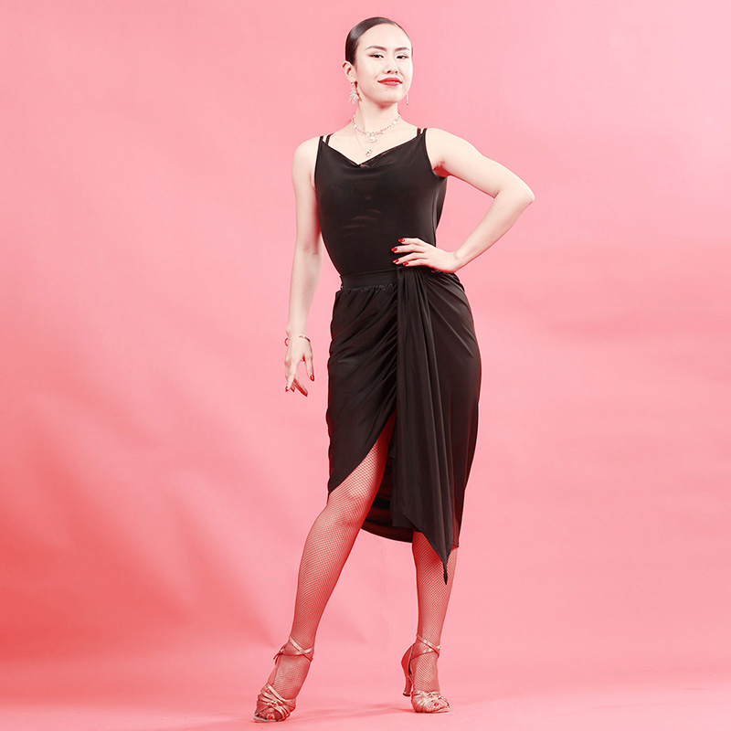 Latin Dance Tops Ladies Leotard Rumba Cha Cha Samba Tango Sling Sleeve Clothes Performance Dancewear Adult Practice Wear PY024