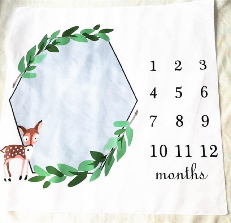 HTB1EoZkXZnrK1RjSspkq6yuvXXaa Cartoon Pattern Infant Baby Milestone Photo Props Background Blankets Play Mats Backdrop Cloth Calendar Photo Accessories Nordic