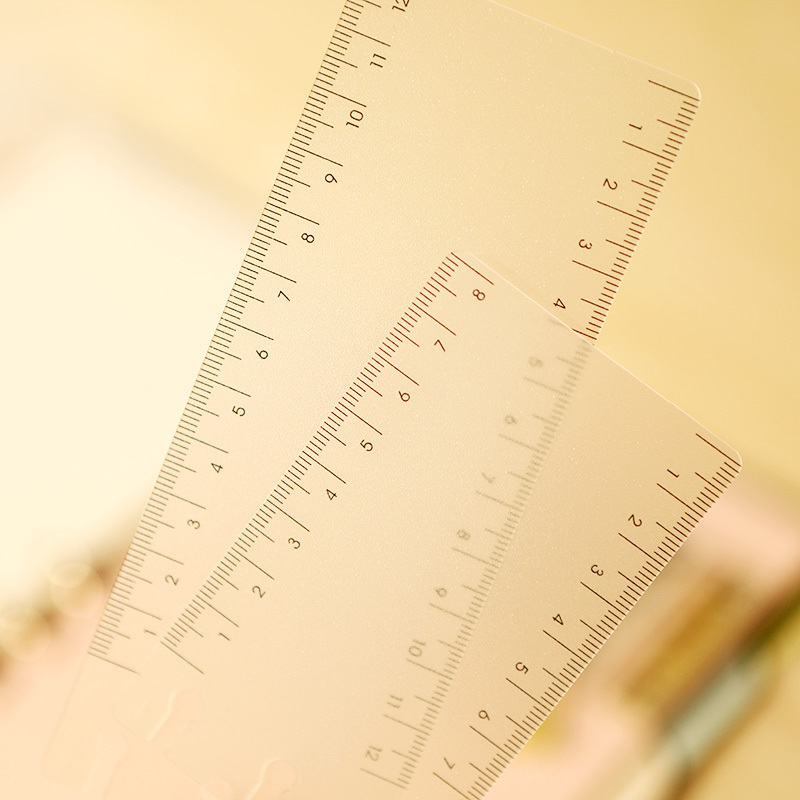 Diy Tape Ruler Deconsolidator Plate Scrub Pvc Material Tape Storage Plate Straight Ruler In Notebook