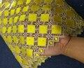 Venda quente Projeto maravilhoso HW107-5 amarelo rendas Solúvel Em Água, de Boa qualidade E Frete Grátis tecido de Renda Africano