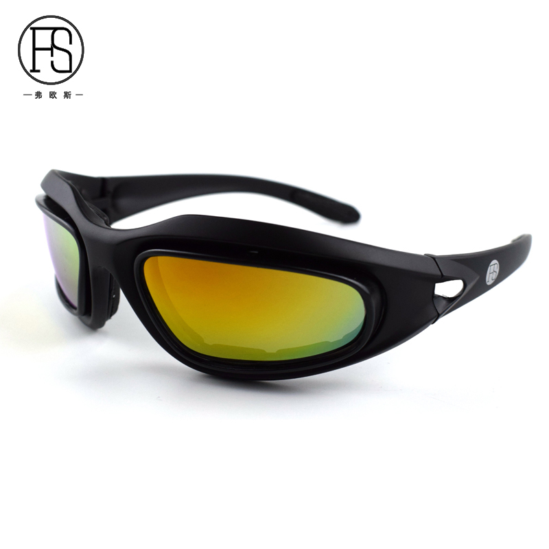 Tactical Military C5 Glasses Men Outdoor Sport Motocycle Cycling Sunglasse Hunting Airsoft UV400 Protective Goggles With 4 Lens