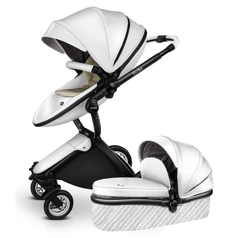 EU 2 in 1 Kinderwagen multifunctionele Luxe Kinderwagen Vouwen Ultra Licht Kan zitten kan worden liggen Kind Trolley