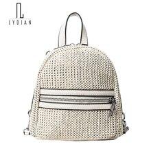 Лидийский Летняя Новинка 2017 г. женщина рюкзак небольшая сумка соломы милый сумка элегантный дизайн рюкзаки для Обувь Для Девочек Пляжные Mochila