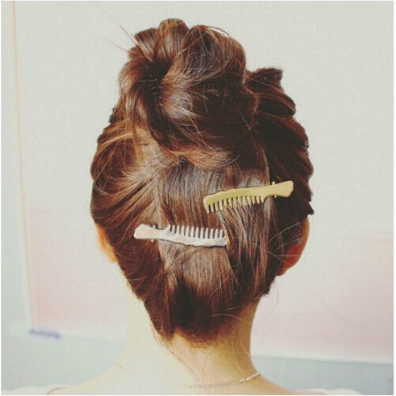 Cheap 1pcs Women   Headwear   Scissors Comb Hair Clip Hair Accessories Headpiece Hairpin   Headwear   Gold Silver Color Drop Shipping