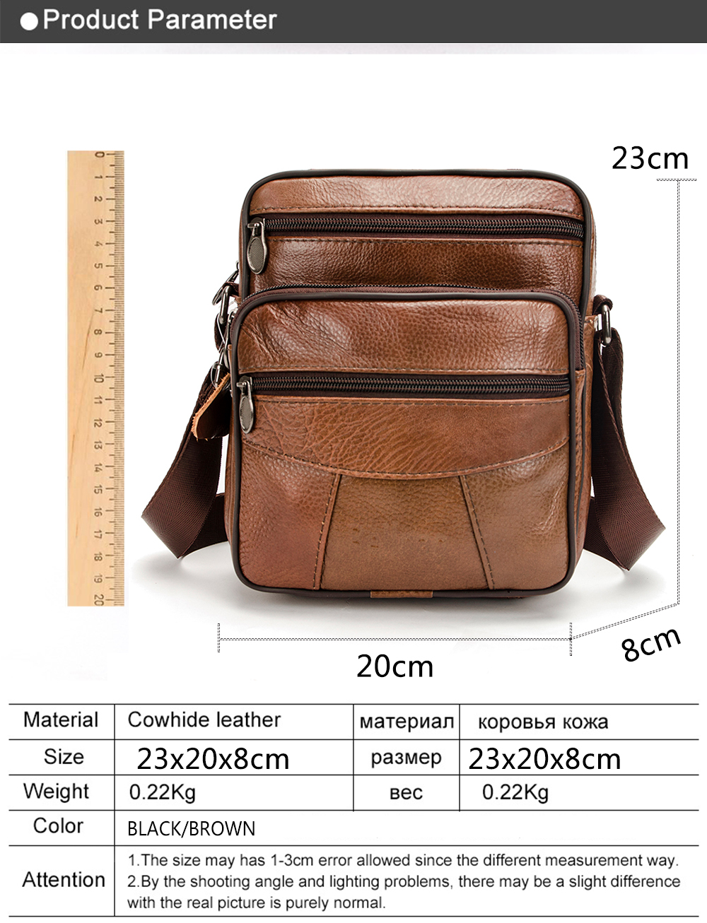 26d7f88e9d54 Cow Genuine Leather Messenger Bags Men Travel Business Crossbody ...