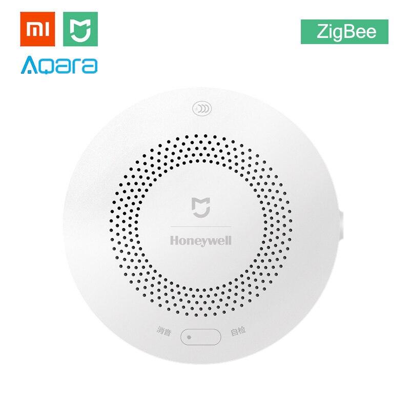 Xiaomi MIJIA Honey-well Aqara Gas Alarm Detector Fire Protection Remote Alert Smart Home Kit Smoke Alert Support Gateway Hub