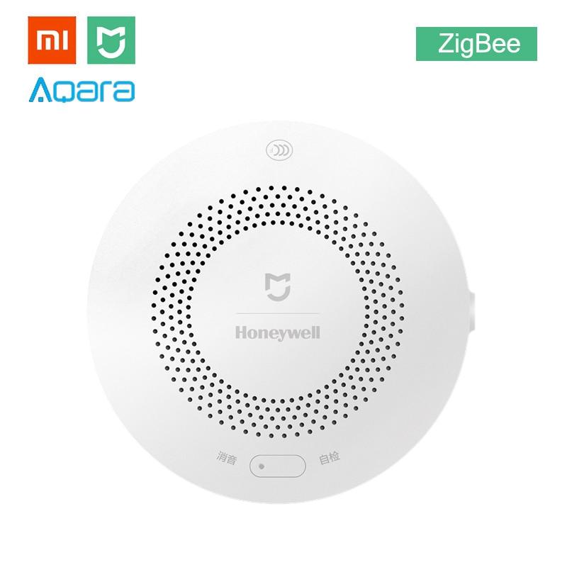 Xiaomi mijia mel-bem aqara detector de alarme de gás proteção contra incêndio alerta remoto kit casa inteligente alerta de fumaça apoio hub gateway
