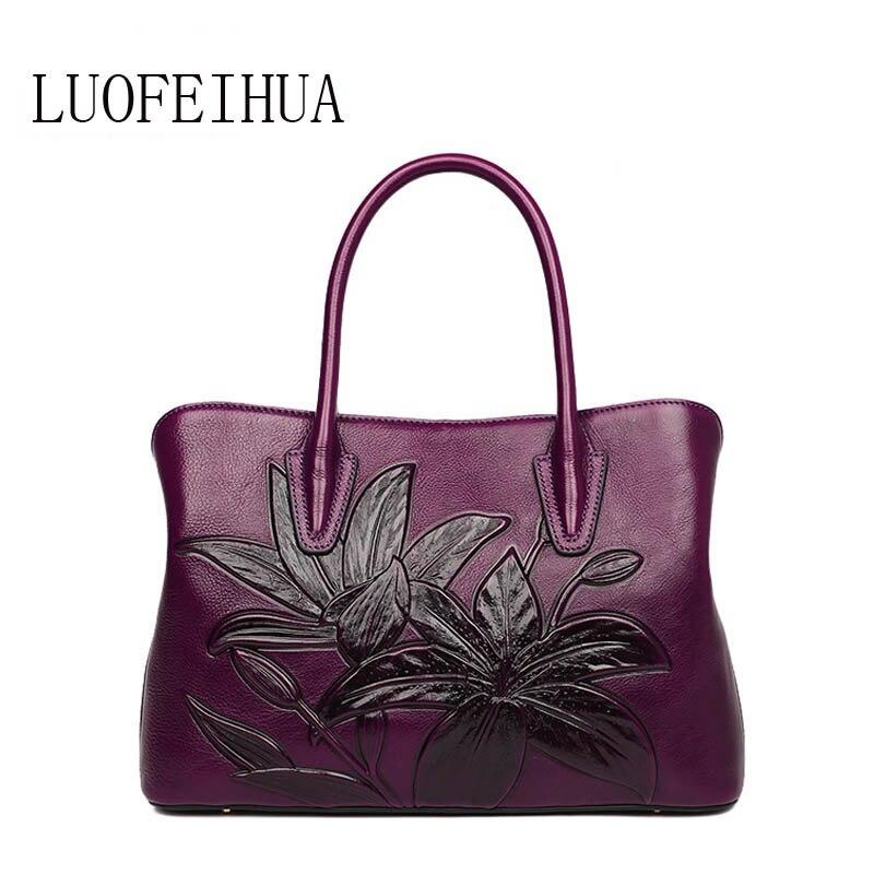 Véritable Luxe Brown Rétro purple Les Femelle De Cuir black Femmes Nouvelle red Designer Sacs Pour 2019 Marque green Gaufré Main Femme En Sac À oWBQxerdC