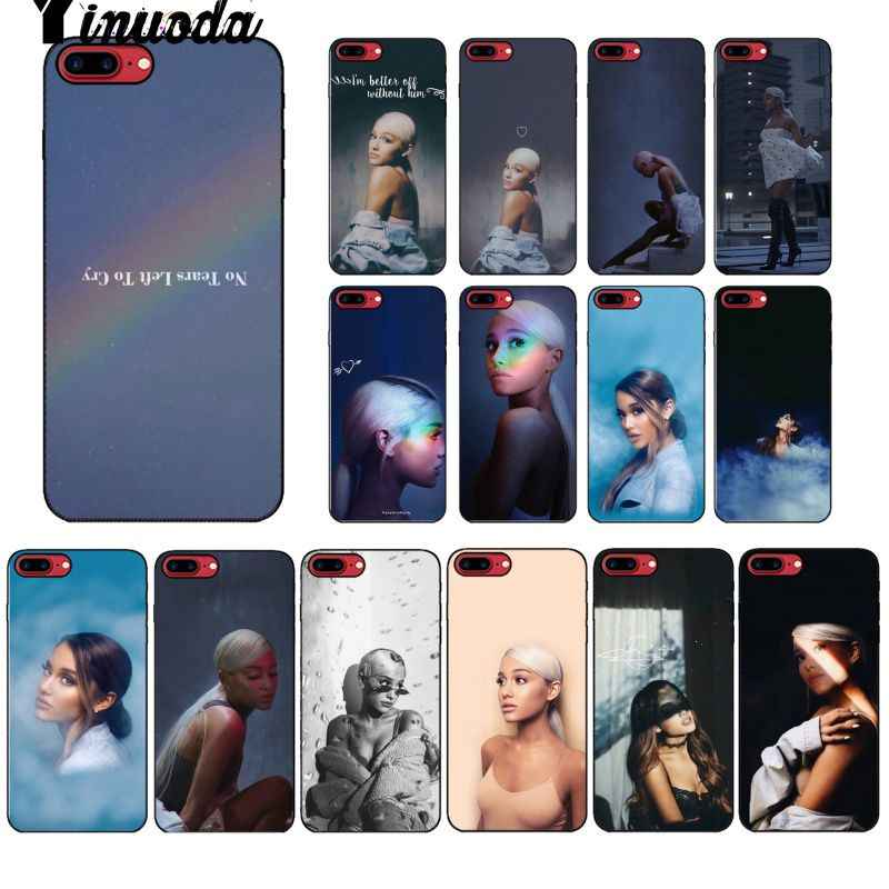 Yinuoda No Tears ซ้าย To Cry ariana grande Tpu สีดำสำหรับ iPhone 8 7 6 6 S plus 5 5 S SE XR X XS MAX Coque Shell