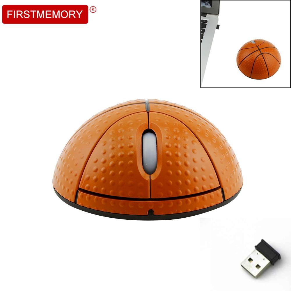 Беспроводная эргономичная игровая мышь в форме баскетбола, 2,4 ГГц, 1200 DPI, USB-0