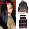 Peruvian Straight Virgin Hair With Frontal Closure 7A Peruvian Virgin Hair Straight Ear To Ear Lace Frontal Closure With Bundles