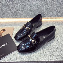 купить Spring/Autumn Casual Flats Shoes Woman Low Heels Fashion Platform Female Shoes Chunky Round Toe Footwear Oxford Women Shoes по цене 692.96 рублей