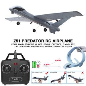 Rc avião 20 minutos de vôo tempo planador brinquedo avião com led 2.4g controle remoto mão jogando wingspan crianças rc jet avião espuma