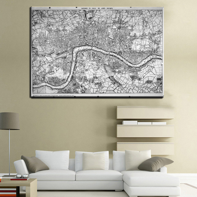 Xll223 modern world map decorative painting black white minimalist xll223 modern world map decorative painting black white minimalist art canvas prints office living room wall gumiabroncs Images