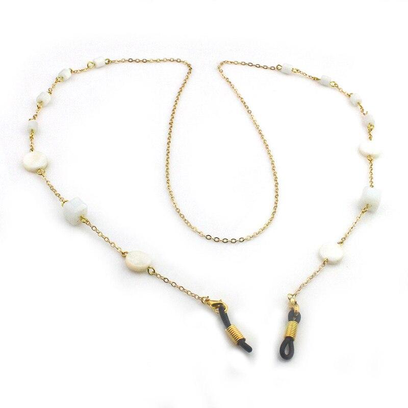 Shell Acryl Perle Perlen Link Kette Brillen Ketten Gläser Seil Halter Sonnenbrille Halsband Cord Neck Band Zubehör Auswahlmaterialien Damenbrillen