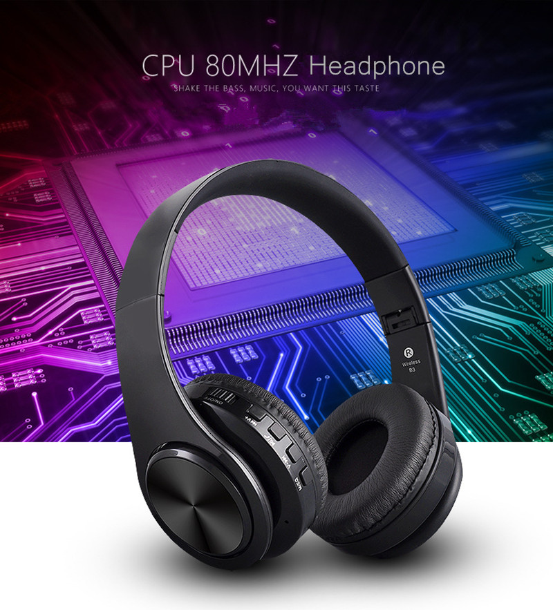 New Original Brand Wireless Bluetooth Sport Headphones Stereo Headsets With Mic Support TF Card FM Radio For iPhone For Samsung earfun brand big headphones with mic