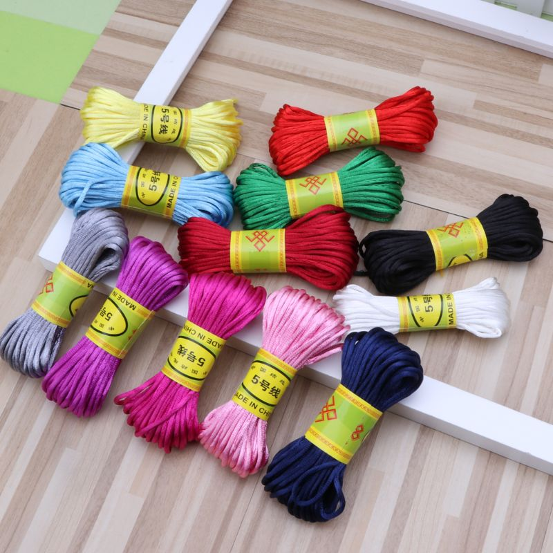 Beading Pacifier Clip Chain Thread Chinese Knot Braided Cords Soft Satin