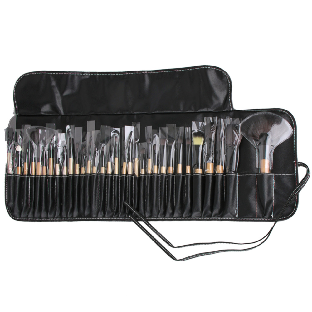 32 PCS Makeup Brushes Professional Foundation Powder Eyelash Make Up Brushes Synthetic Hair Brush with Bag Pincel Maquiagem professional makeup brush kits wood synthetic hair powder foundation makeup eye shadow brush tools 12 pcs set fashion maquiagem