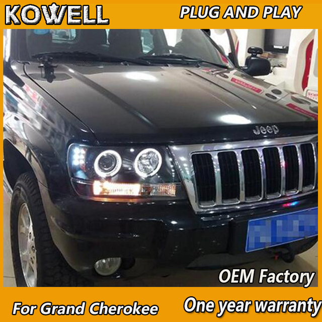 KOWELL Car Styling For Jeep Grand Cherokee 1999 2004 LED Headlight Xenon  HID Front Light
