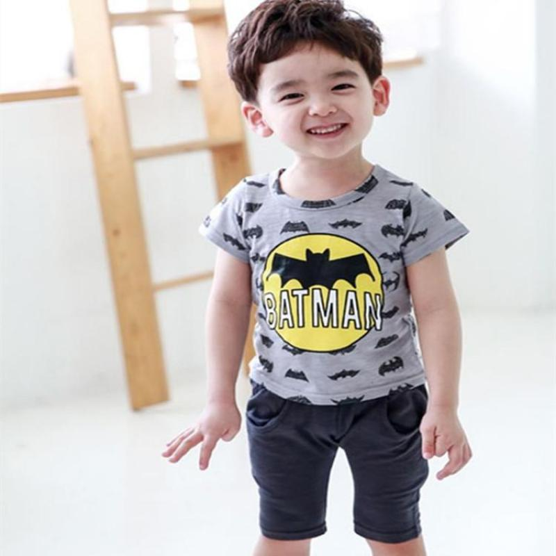 kids boys suits fashion batman 2 pieces sets top short boys clothing
