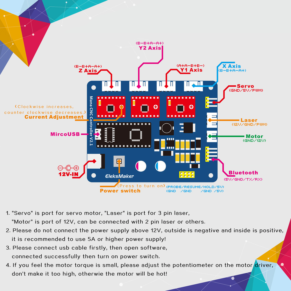 Xyz 3 Axis Stepper Motor Driver Controller Board Control Panel For Phase Wiring X Y Z 1 Usb Cable 2p Lines 3p 4 4p